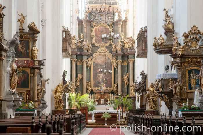 Innenansicht der Dorotheenkirche in Breslau (Wrocław)