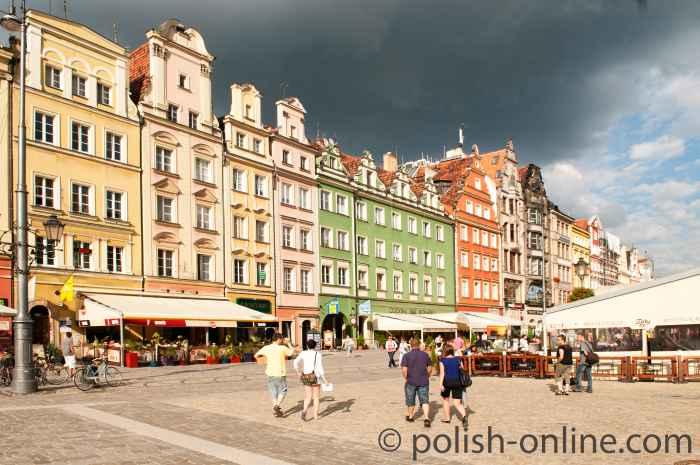 Nordseite des Marktes Breslau (Wrocław)