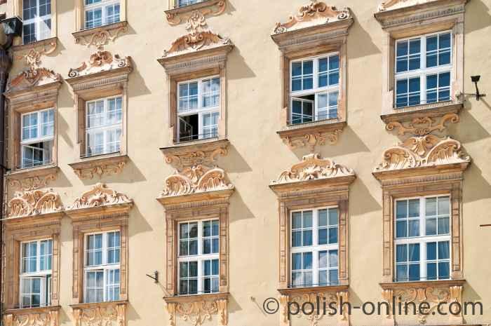 Haus Zur Goldenen Sonne am Markt von Breslau (Wrocław)