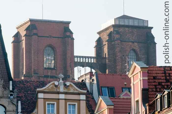 Türme der Maria Magdalenenkirche in Breslau (Wrocław)