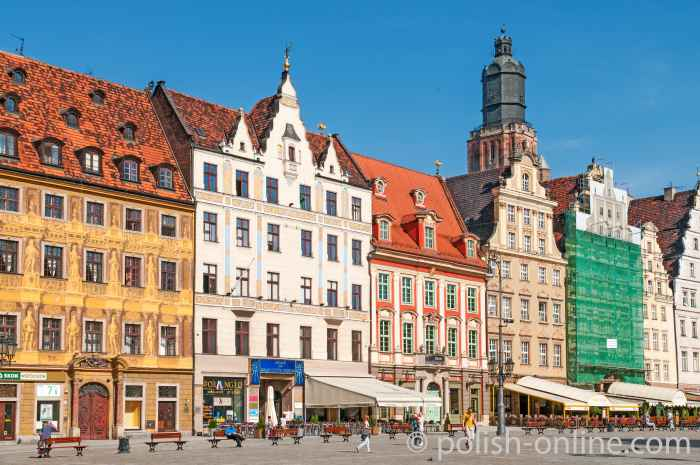 Westseite des Marktes von Breslau (Wrocław)