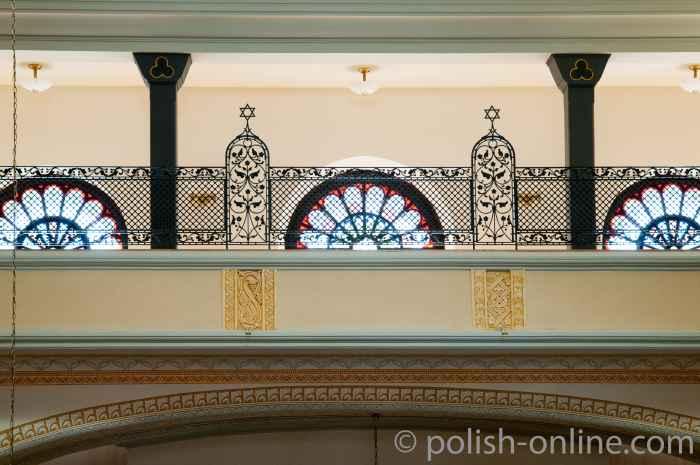 Frauenempore in der Synagoge Breslau (Wrocław)