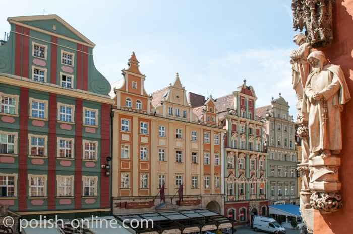 Südseite des Marktes von Breslau (Wrocław)