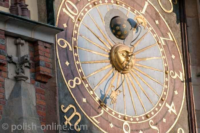 Astronomische Uhr am Rathaus von Breslau