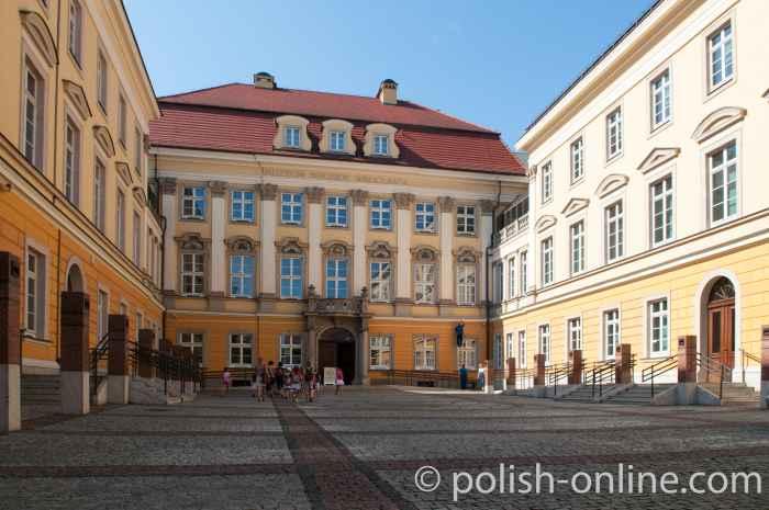 Mittelteil des Königsschlosses in Breslau (Wrocław)