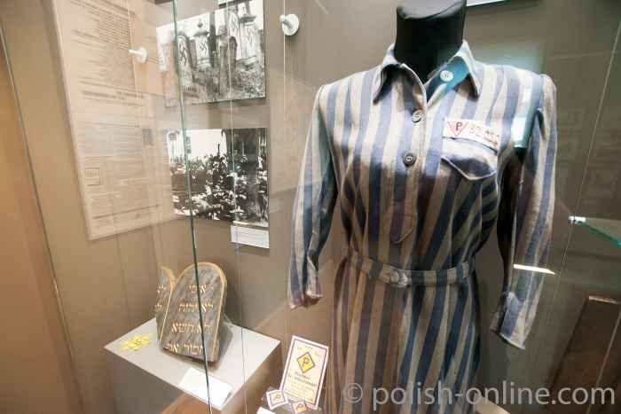 Häftlingskleidung einer Polin, Königsschloss Breslau
