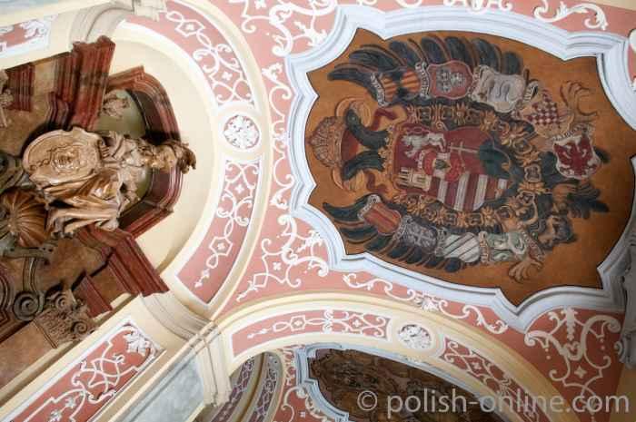 Barocke Deckenverzierung Universität Breslau