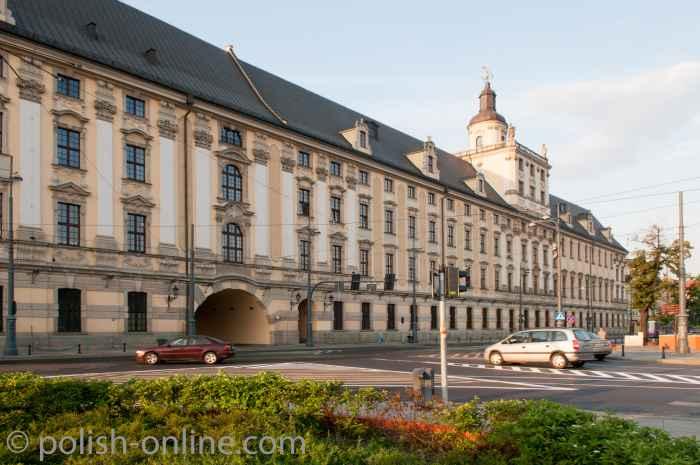 Ansicht der Universität von der Oderseite Breslau