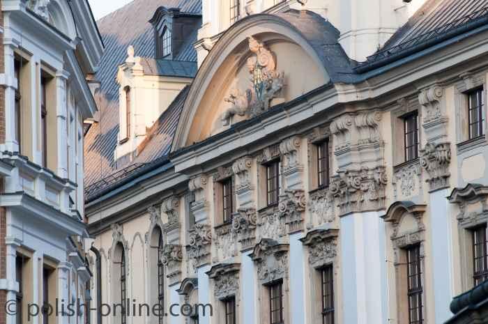 Fassadenfragment unter dem Astronomischen Turm Breslau