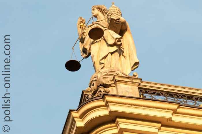 Figur Justicia Universität Breslau