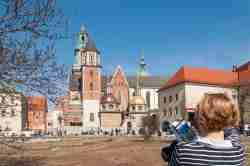 Südseite der Wawelkathedrale in Krakau