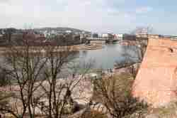 Blick von der Wawelburg auf die Weichsel in Krakau