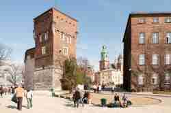 Krankenhaus und Kathedrale auf der Wawelburg in Krakau