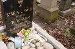 Grab von Maria Orwid auf jüdischen Friedhof in Krakau