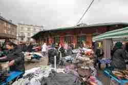 Markttreiben auf dem Plac Nowy in Kazimierz in Krakau (Kraków)