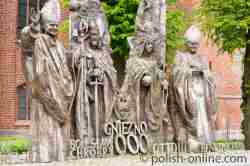Denkmal in Kolberg, das an den Akt von Gnesen erinnert