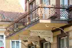 Gusseiserne Balkonbrüstung In Sensburg (Mrągowo)