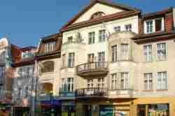 Jugendstilfassade in Sensburg (Mrągowo)
