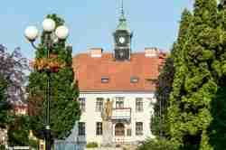 Das Rathaus von Sensburg (Mrągowo)