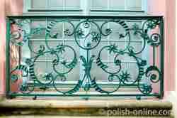 Schmiedeeisernes Gitter Palast der Äbte Oliva