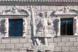 Relief Heiliger Christophorus Markt Kazimierz Dolny