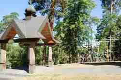 Pavillon vor dem Eingang zur Kirche in Grabarka