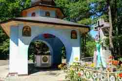 Quelle am Fuß des Klosterberges Grabarka in Polen