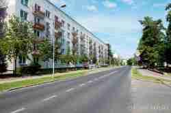 Plattenbauten aus sowjetischer Zeit in Groß Born (Borne Sulinowo)