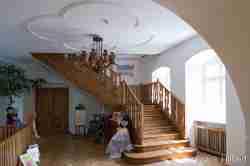 Treppe im Schloss Bad Polzin in Westpommern