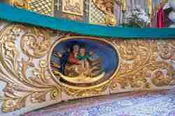 Holzskuptur in der Dreifaltigkeitskirche Tempelburg