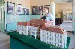 Modell des Schlosses in Heinrichsdorf (Siemczyno)