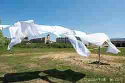 Wäsche weht im Wind