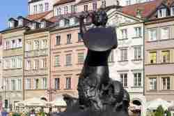 Meerjungfrau auf dem Warschau Marktplatz Masowien