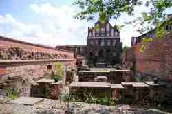 Reste der Ordensburg in Thorn (Toruń)