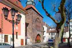 Das Neue Tor in Stolp (Słupsk) in Pommern