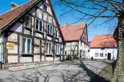 Verfallene Fachwerkhäuser Stolpmünde (Ustka)