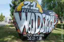 Werbung für das Rockfestival Haltestelle Woodstock
