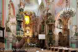 Barocke Inneneinrichtung der Pfarrkirche in Włodawa