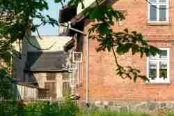 Altes Backsteinhaus in Sensburg (Mrągowo)
