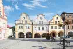 Bürgerhäuser auf dem Markt von Bad Landeck (Lądek Zdrój)