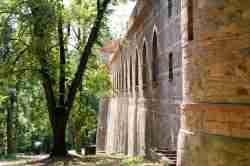 Schlossfassade in Kamenz (Kamieniec Ząbkowicki)
