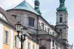 Nordwestfassade der Jesuitenkirche in Neisse (Nysa)