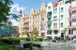 Bürgerhäuser am Freiheitsplatz in Bromberg