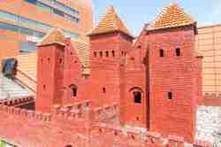 Modell der Bromberger Burg