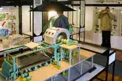 Modell einer Papiermaschine im Papiermuseum in Bad Reinerz (Duszniki Zdrój)