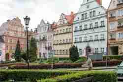 Marktplatz von Bad Reinerz (Duszniki Zdrój)