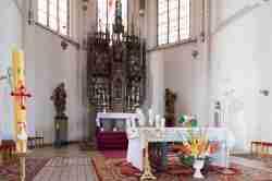 Altar der Pfarrkirche in Mehlsack (Pieniężno)