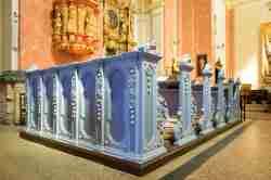 Kirchengestühl in der Wallfahrtskirche Krossen (Krosno)