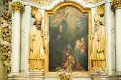 Seitenaltar in der Wallfahrtskirche in Krossen (Krosno)