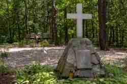 Gedenkstein Stalag Luft III in Sagan (Żagań)